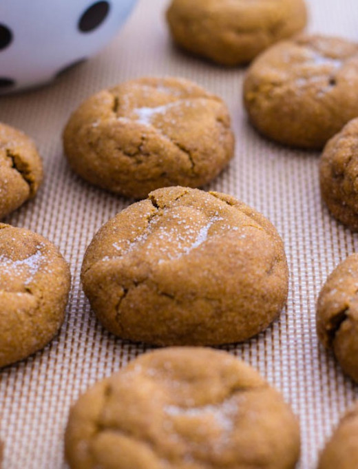 Chewy Gluten-Free Date-Filled Molasses Cookies