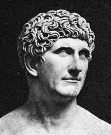 A detailed bust of Mark Antony.