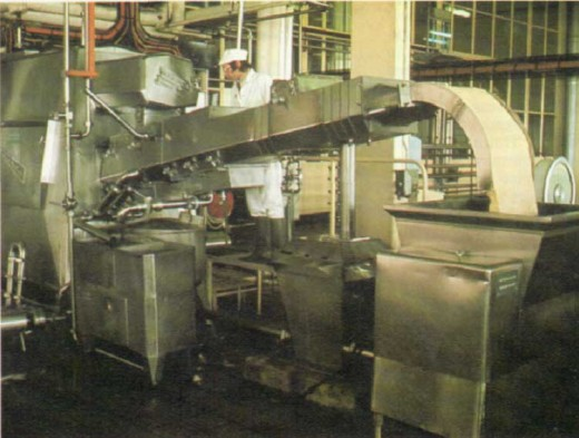 Manufacturing butter.