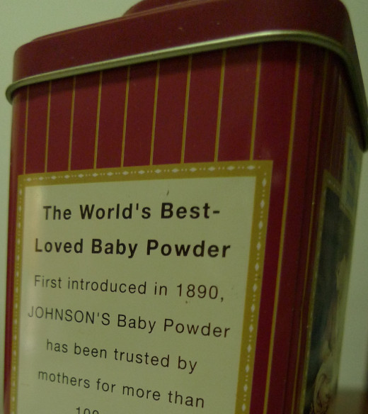 A close-up of a Johnson's advertisement