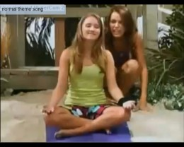 This picture is on my article. I got it off of a Hannah Montana video. Hannah's best friend is meditating in the picture. She is played by Emily Osment who is a singer. See article below to watch this video. She is in a 2013 movie called Kiss Me.