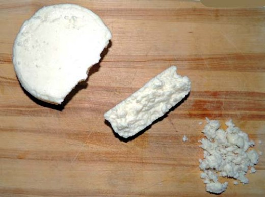 crumble the queso fresco