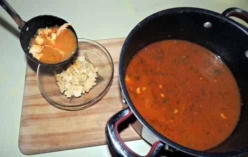 add soup---