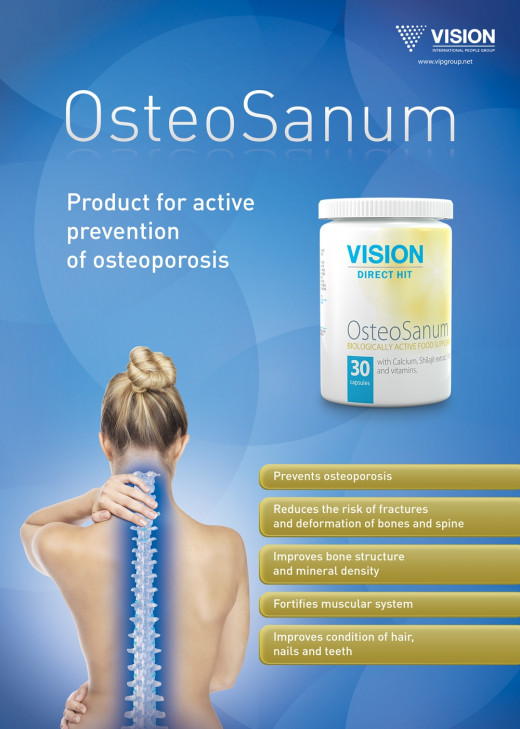 Are you looking for the best food supplemet for active prevention of osteoporosis?  OsteoSanum appears to be a perfect solution.