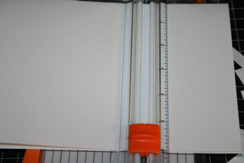 "Fold the drawing paper in half.  Then trim the size down to 6"" with a paper trimmer."