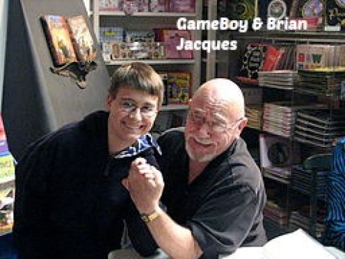 Brian Jacques (right) on November 8,2007.