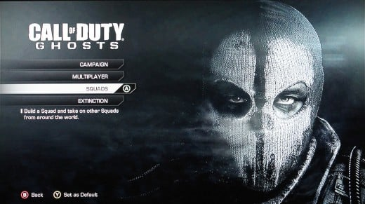 Select Squads to play the different Squad modes on Call of Duty: Ghosts