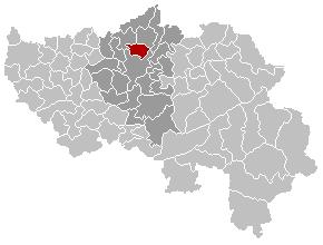 Map location of Herstal, Liège province