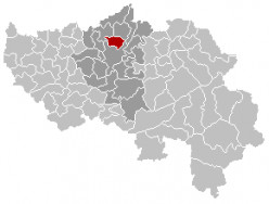 Map location of Herstal, Liège province