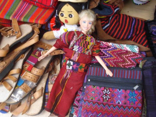 I did not purchase the Barbie dressed as a Mayan Native in Panajachel, Guatemala!  Even though it reminded me of a happy childhood memory.