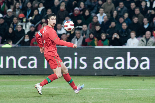 Cristiano Ronaldo playing for Portugal