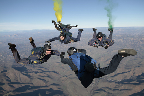 US Navy parachute team from Official US Navy Page flickr.com