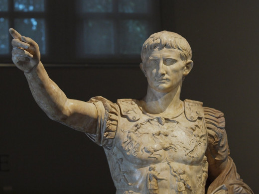 A statue depicting Augustus in his later years.