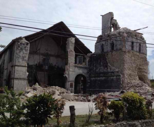 Damaged Baclayon Church