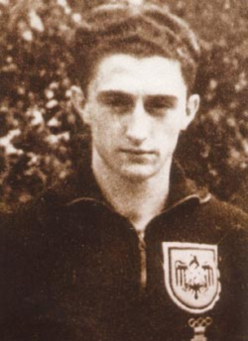 Heinz Ditgens in the squad of the German national football team at the 1936 Olympic Games in Berlin