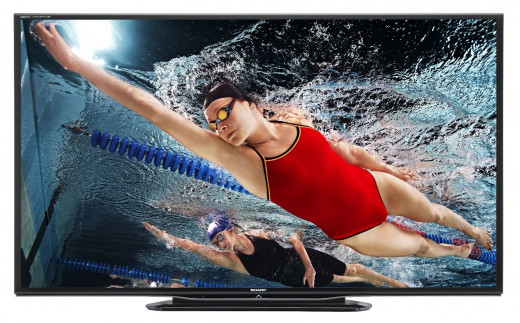 Sharp LC-60LE757U 60-Inch Aquos Quattron 1080p 240Hz Smart LED 3D HDTV
