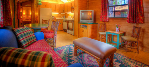 Inside the cabins at Fort Wilderness Campground