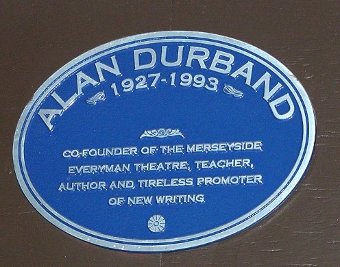 This is a personal photo by Geoff Southern of a plaque for Alan Durband. He was one of Brian Jacques' teachers.