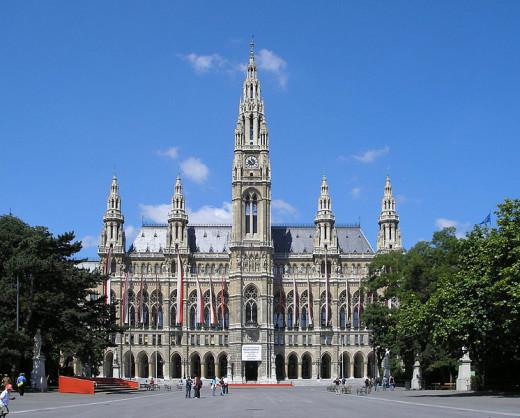 L'hôtel de ville de Vienne.