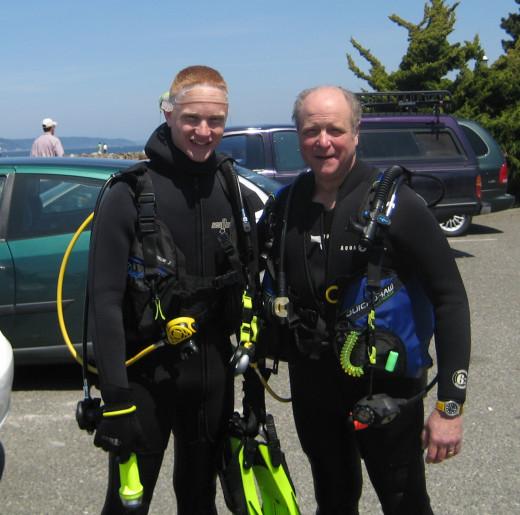 My son, Daniel, and I at Edmonds, May 2009