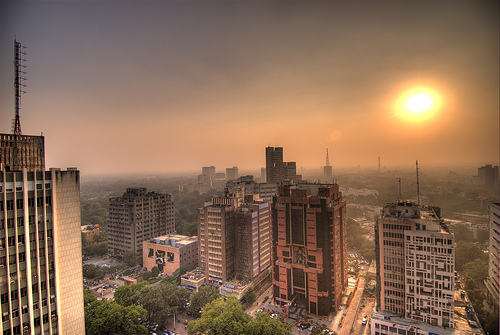 Connaught Place sunset