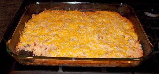Chicken, Rice and Salsa Bake