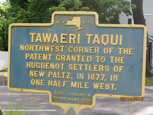 One of the local historical signs in Rosendale.