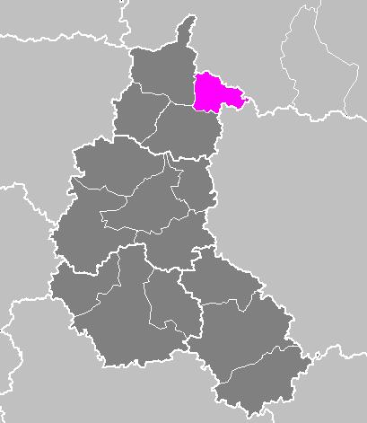 Map location of Sedan 'arrondissement'