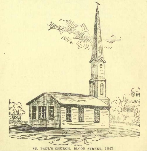 St Paul's Anglican church, Bloor Street, Toronto, in 1843