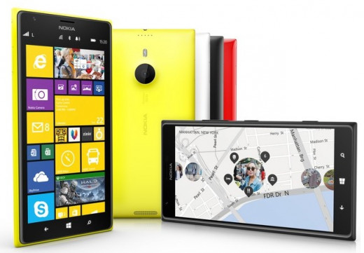 Nokia Lumia 1520 6-inch phablet available in yellow, white, black and red.