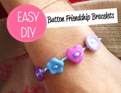 DIY Button Friendship Bracelet