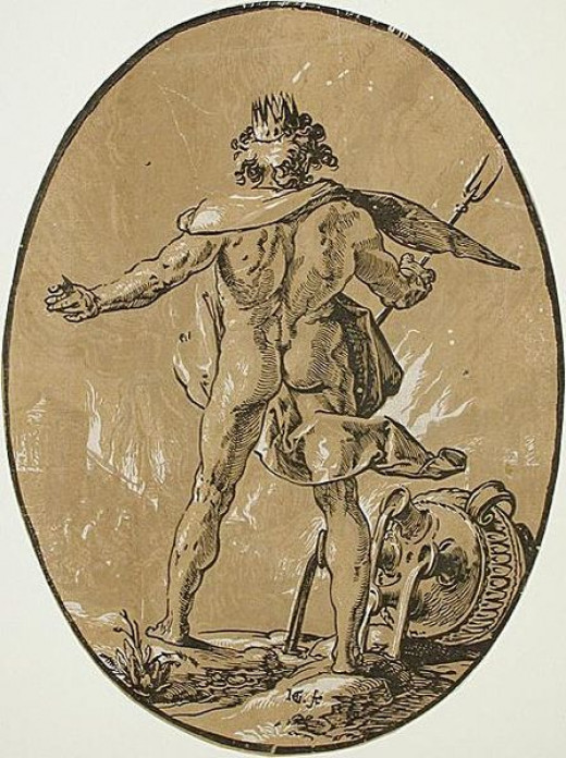 Pluto [from the series Gods and goddesses by Hendrick Goltius