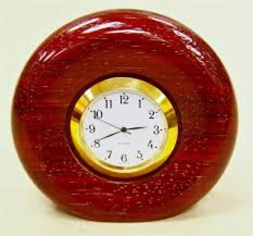 Purpleheart Wood Clock