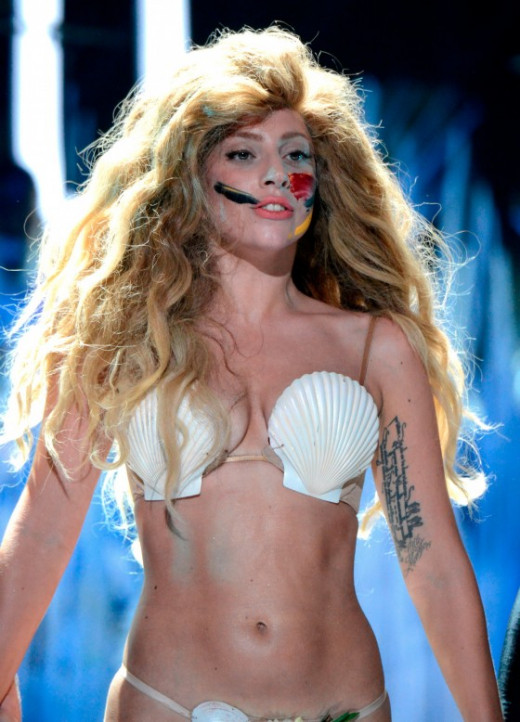 Lady Gaga at the VMA's 2013