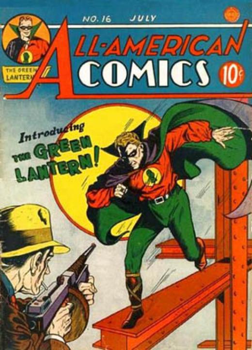 All American Comics #16 - First appearance of original Green Lantern Allan Scott