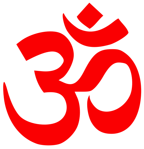 Om, a Hindu symbol largely used in rituals and functions.
