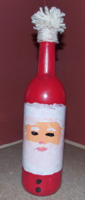 A Christmas Craft: Santa Bottle
