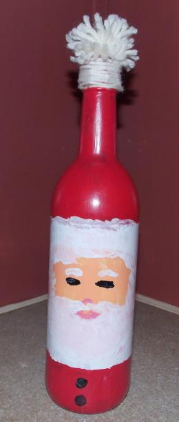 Christmas Craft: Santa Bottle