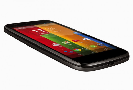 Moto G  A side view of the Moto G by Google