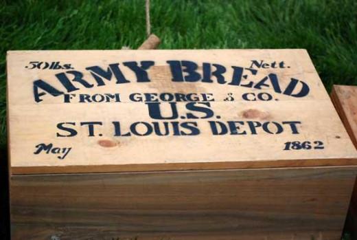 A box of army bread
