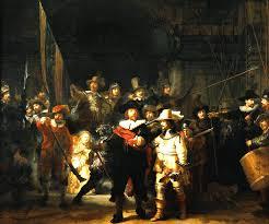 The famous 'De Nachtwacht' of Rembrandt can be seen in 'Het Rijksmuseum' in Amsterdam