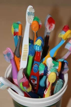 Recycling your old toothbrushes