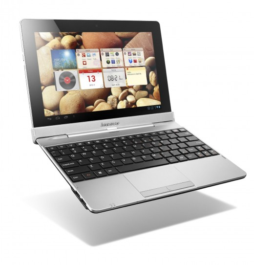 Lenovo Idea S2110 Tablet with Keyboard Attached.