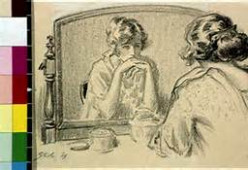 The woman in her mirror. Had she forgotten how to smile? Flash fiction