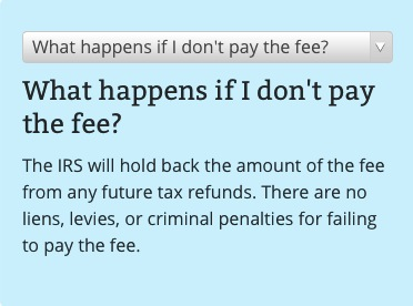 It isn't 'criminal' to not pay your fee, but their value will be withheld from your tax refunds.