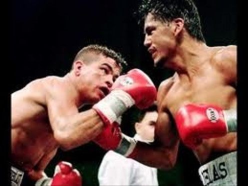 Gabriel Ruelas seen here fighting Arturo Gatti was always haunted by the death of Jimmy Garcia.