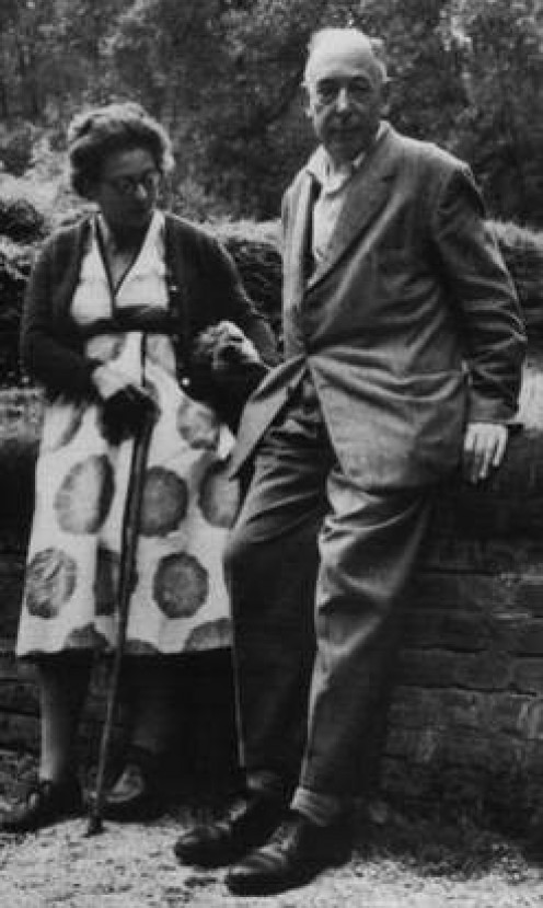 C.S. Lewis with his wife, Joy Davidman