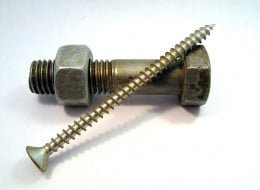 Screws and bolts are used everywhere to keep things joined together.
