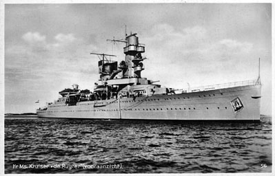 HMS De Ruyter was sunk during the Battle of the Java Sea, together with 2 other battle ships. 2,300 men lost their life.