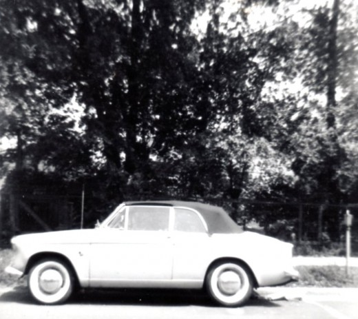 I found it, I found it today. My picture of my first car.